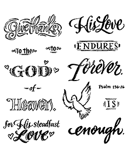 His Love Endures Clear Stamp Set - 11342SC