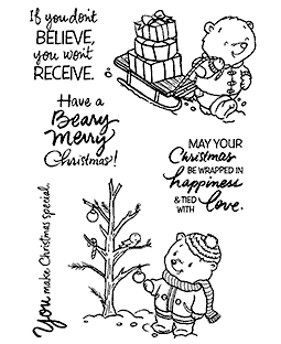 Sal & Buttons Christmas Clear Stamp Set - 11321MC