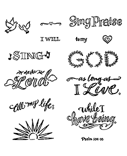 Sing Praise Clear Stamp Set - 11343SC