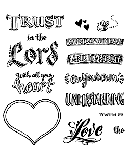 Trust In The Lord Clear Stamp Set - 11344SC