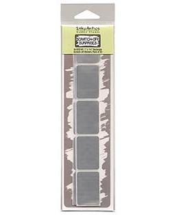 Small Rectangle Silver Scratch-off Stickers - SOS101
