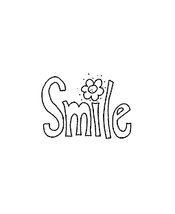 Smile Wood Mount Stamp D2-10247D