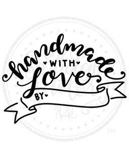 Handmade With Love Wood Mount Stamp E1-10042E