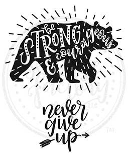 Never Give Up Cling Stamp Set: SCL-104