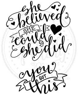 She Believed Cling Stamp Set: SCL-103