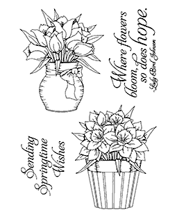 Spring Blooms Clear Stamp Set 11099MC