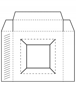 Square Box Template Cling Mount Stamp AGC4-2872