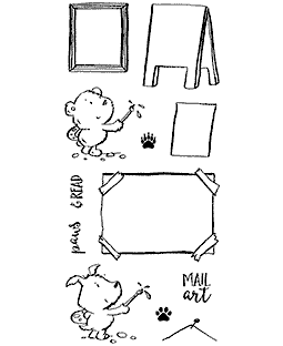 Artist Critters Clear Stamp Set - 11359LC