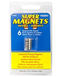 "Disc Magnets, 1/2"" x 1/8"" - MAG07046"