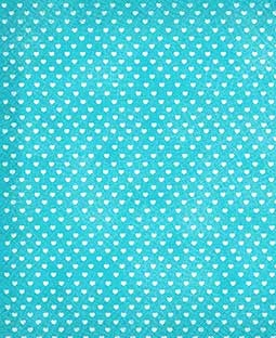 "Sweethearts Blue Raspberry 8 1/2"" x 11"" Printed Cardstock - PAC009"