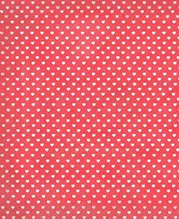 "Sweethearts Cherry 8 1/2"" x 11"" Printed Cardstock - PAC010"