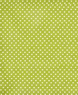 "Sweethearts Lime 8 1/2"" x 11"" Printed Paper - PA012"