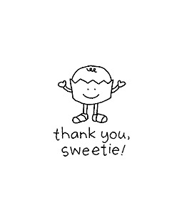Sweetie Thanks Wood Mount Stamp D1-10836D