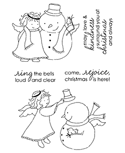 Tammy DeYoung Angel & Snowy Clear Stamp Set 11134MC