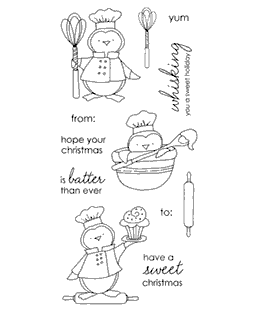 Tammy DeYoung Baking Penguins Clear Stamp Set 11059LC