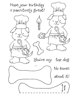 Tammy DeYoung Baking Pup Clear Stamp Set 11046MC