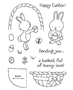 Tammy DeYoung Basket Bunny Clear Stamp Set 11149MC