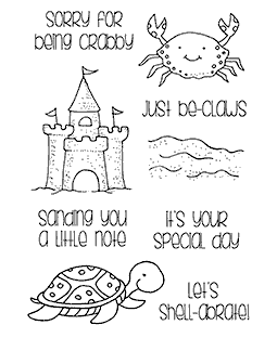 Beach Critters Clear Stamp Set 11250MC