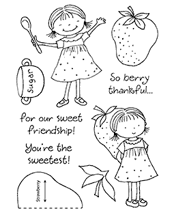 Tammy DeYoung Berry Sweet Clear Stamp Set 11169MC