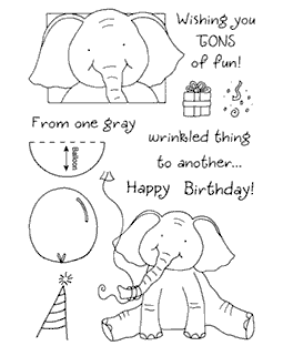 Birthday Elephant Clear Stamp Set 11024MC