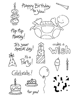 Birthday Turtle Clear Stamp Set 10917MC