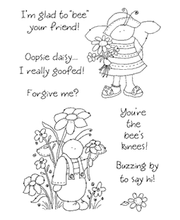 Bumbly Bees Clear Stamp Set 10987MC