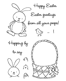 Bunny Parade Clear Stamp Set 11091MC