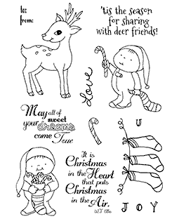 Candy Cane Friends Clear Stamp Set 11186MC