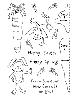 Carrot Bunny Clear Stamp Set 11029MC