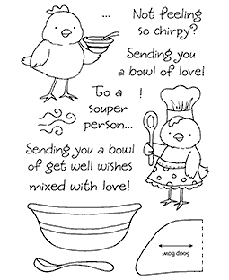 Chicken Soup Clear Stamp Set 11170MC