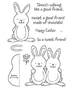 Chocolate Rabbit Clear Stamp Set 11088MC