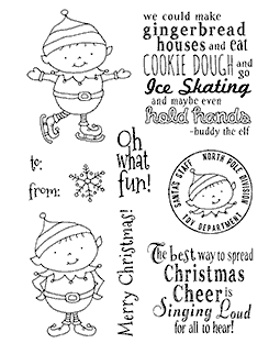 Christmas Elves Clear Stamp Set 11187MC