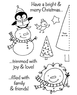 Christmas Friends Clear Stamp Set 11192MC