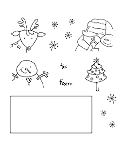 Christmas Gift Tags Clear Stamp Set 11001SC