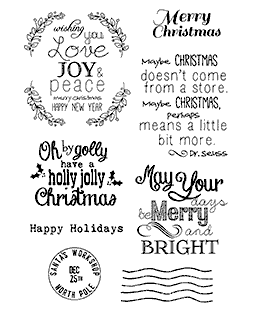Christmas Sentiments Clear Stamp Set 11188MC
