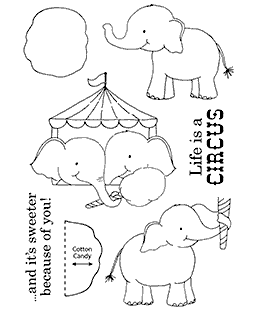 Circus Elephants Clear Stamp Set 11214MC