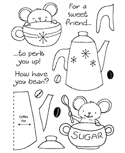 Coffee Mouse Clear Stamp Set 11171MC
