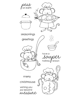 Cooking Mousies Clear Stamp Set 11060LC