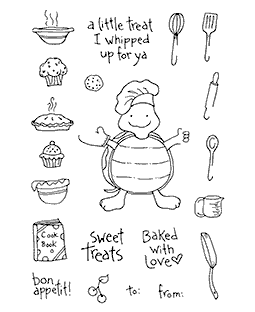 Cooking Turtle Clear Stamp Set 10994MC