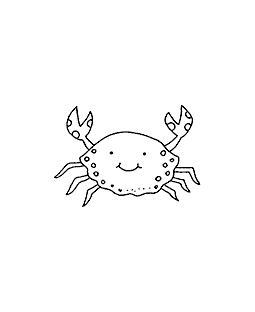 Crab Wood Mount Stamp E1-4945E