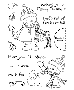 Decorating Snowman Clear Stamp Set 11118MC