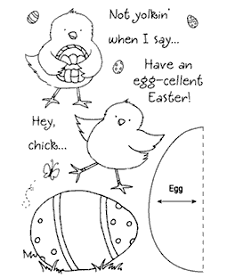 Easter Chick Clear Stamp Set 11030MC