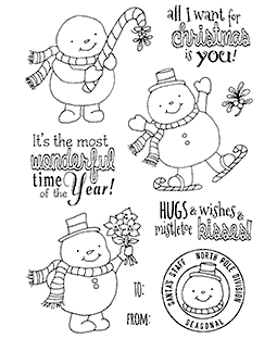 Festive Snowguys Clear Stamp Set 11189MC