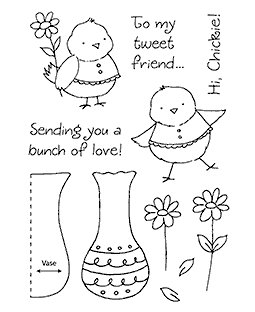 Flower Chick Clear Stamp Set 11151MC