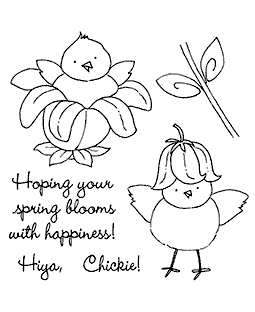 Flower Chick Clear Stamp Set 11095SC