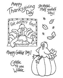 Gobbles Turkey Clear Stamp Set 10918MC