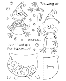 Halloween Frog Clear Stamp Set 11051MC