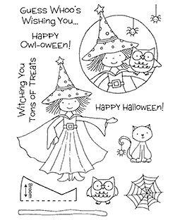 Halloween Witch Clear Stamp Set 11116MC
