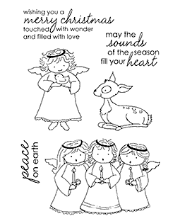 Tammy DeYoung Heavenly Friends Clear Stamp Set 11135MC