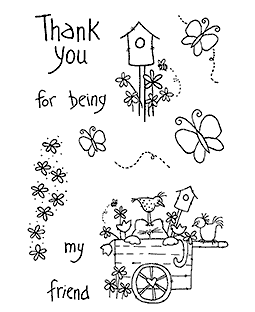 Tammy DeYoung Kitty's Friends Clear Stamp Set 11236MC